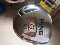 Ping G10 Golf Driver. 460cc titanium. 9 degrees. TFC 129 Regular shaft.