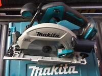 Makita 18v lithium brushless circular saw vgc Bosch dewalt