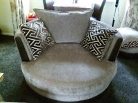 Swivel cuddle chair for sale