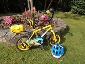 "Boys bike & helmet - Apollo Digby - 12"" Wheels - £20"