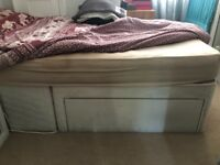 FREE Double bed divan bed frame 4'6