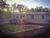 3 bedroomed Holiday let, static caravan sited at Coghurst Hall in Hastings, C/H and D/G