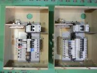 100 amp electric service panel - with many breakers
