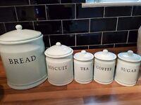 China tea coffee sugar and biscuit jars
