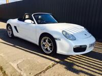PORSCHE BOXSTER 2.7 240 BHP ROADSTER PEARL WHITE LEATHER SAT NAV