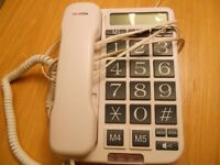 Phone handset with big buttons