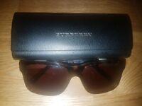 QUICK SALE!! Authentic Camo Flague Brown Mens Burberry Sunglasses 56 mm