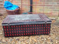 2 metal trunks for sale