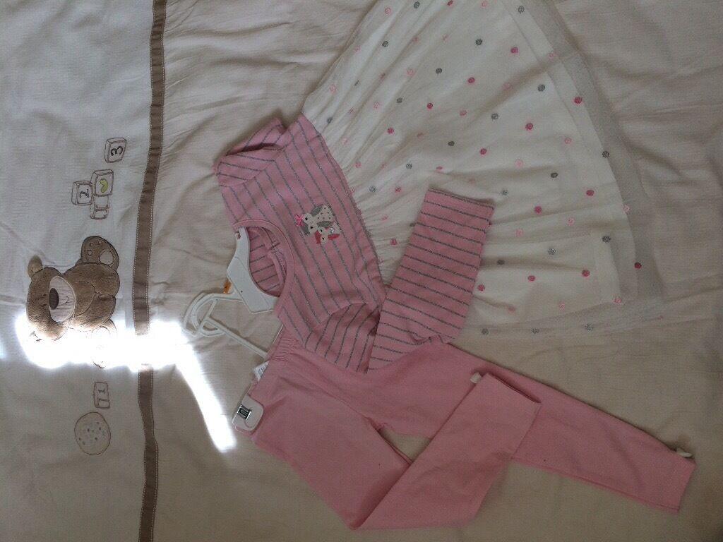 Pink dress, skirt, jumper from 5£