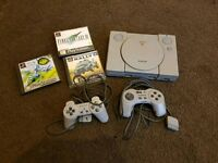 PS1 with 3 Games O.N.O