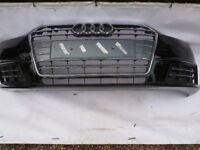 AUDI A4 B9 NEW MODEL 8W0 BUMPER IN BLACK GENUINE PART FITS LATEST 2015-ON MODELS