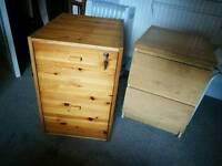 Mini filing cabinets