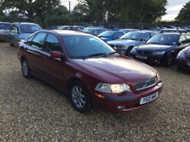 2001 Volvo s40 2.0 8 Months MOT Service History Low Milage 1 Former Keeper 2 Keys Cheap Car