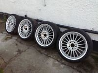 "BMW Alpina BBS Genuine 18"" Staggered Alloys 8j and 8,5j"