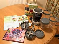 Nutribullet 600 12 piece set with new Nutritional Blast book