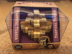 NEW Bamboozle tropical teaser wooden puzzle.