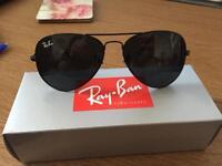 Rayban 3026 all BLACK aviator sunglasses