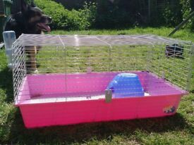Indoor cage for small rabbit or guinea pig