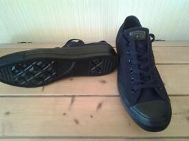 CONVERSE BLACK ALL STAR TRAINERS