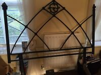 "Gothic style metal headboard for 4' 6"" double bed"