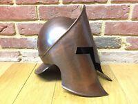 Spartan metal helmet