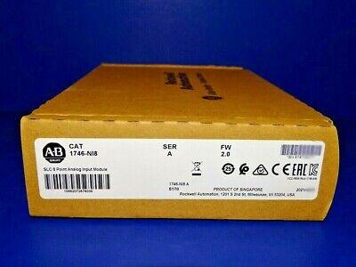 2021 Factory Sealed Allen Bradley 1746-ni8 A Analog Input Module Slc 500