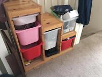IKEA TROFAST WITH STORAGE BOXES