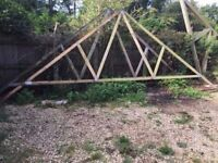 Attic Garage Roof Trusses x 10