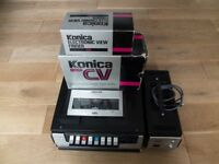 KONICA CV COLOR VIDEO CAMERA [CV-303] + FERGUSON VIDEOSTAR VCR