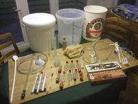 HOMEBREW BEER / WINE MAKING EQUIPMENT - LARGE BUNDLE