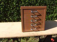 Small 5 Drawer Desktop Filing Cabinet. Similar To Bisley