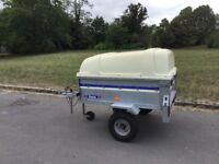 Franc 4 x 3 tipping/ camping trailer with fibreglass hightop