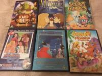 6 Children s DVDs