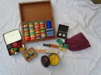 Various Poker Chips, Dice & Counters, Some Vintage. Job Lot.
