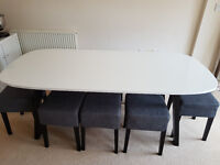 Ikea table and stools set - 8 seater.