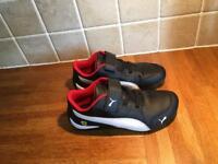 Boys puma black trainers size 13