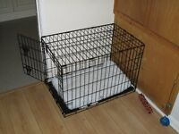 Dog Cage (folds flat when not in use)