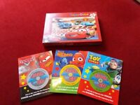 DISNEY / PIXAR SELECTION BOOKS PUZZLES ALL VGC AND UNUSED