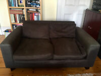 Habitat brown sofa - two seater