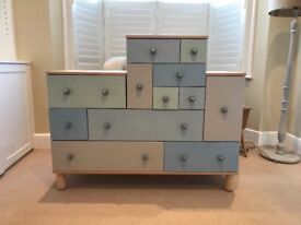 Upcycled fun chest of drawers, loads of storage