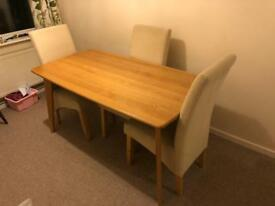 Oak dining table (chairs optional)