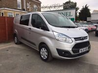 Ford Transit Custom 2.2 TDCi 290 L1H1 Trend Double Cab-in-Van 5dr£12,995 p/x welcome FREE WARRANTY,