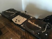 2 x Technics SL-1210 Turntables with Numark Pro SM1 Mixer