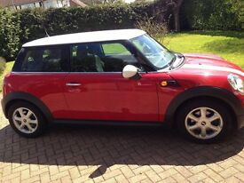 MINI COOPER 1.6 56 PLATE WITH PEPPER PACK - RED WITH WHITE STRIPES, BMW ENGINE, EXCELLENT CONDITION