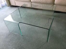 Quality glass coffee table