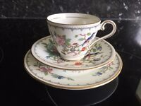 PRETTY AYNSLEY PEMBROKE TRIO - TEA CUP, SAUCER AND PLATE