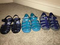 D&G and Hugo Boss Blue Jelly sandals for Summer Size euro 25 UK 7 1/2