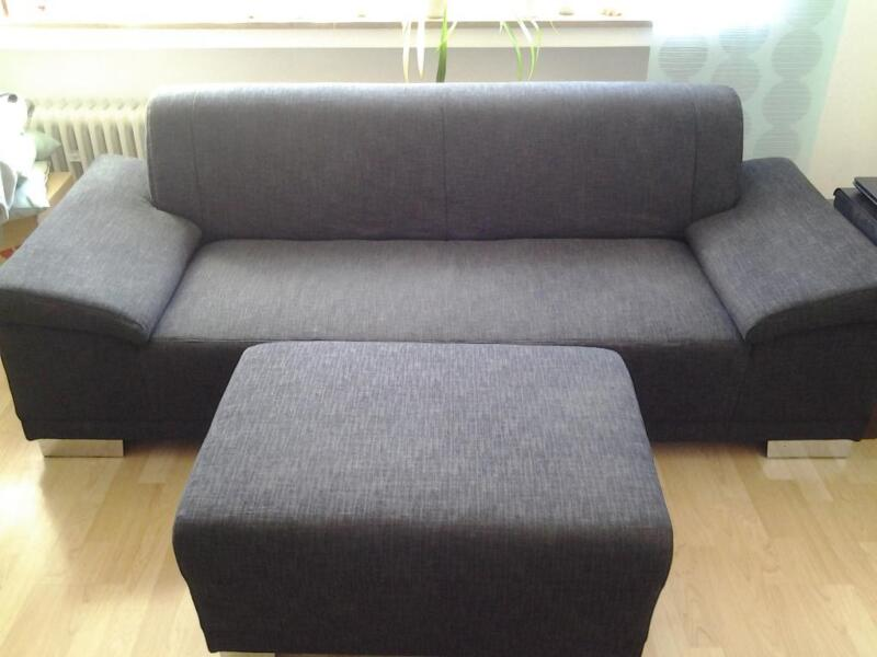 3 sitzer couch mit hocker in nordrhein westfalen mettmann ebay kleinanzeigen. Black Bedroom Furniture Sets. Home Design Ideas