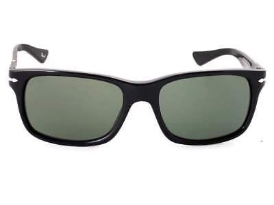 NEW Persol Men's PO3048S-95/31-55 Black Rectangle Sunglasses