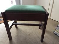 Dark wood piano stool good quality